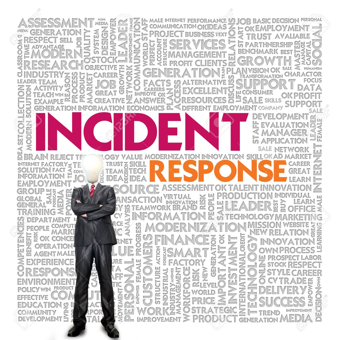 Business word cloud for business concept, Business continuity Stock Photo - 14100154