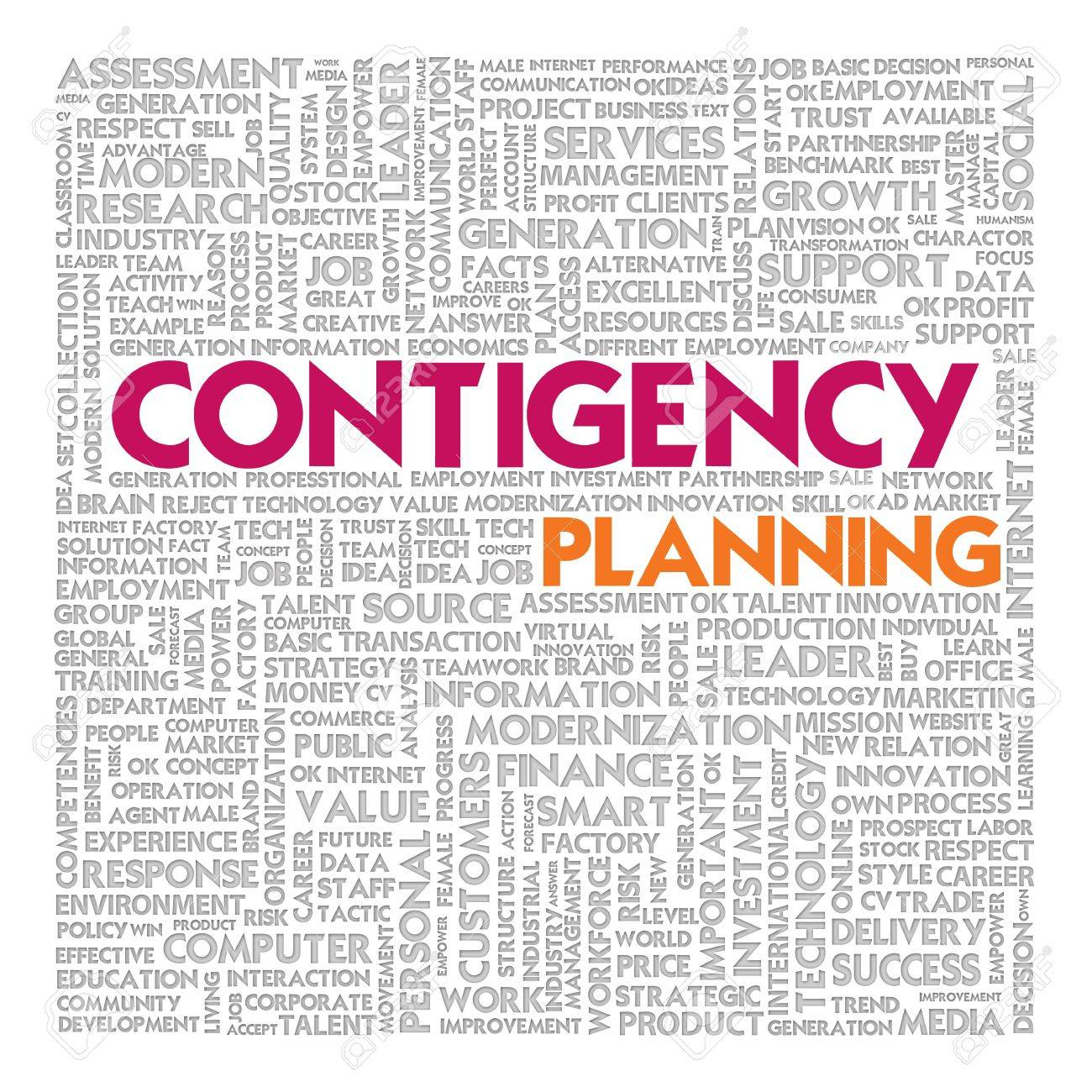 Business word cloud for business concept, Business continuity Stock Photo - 14100265