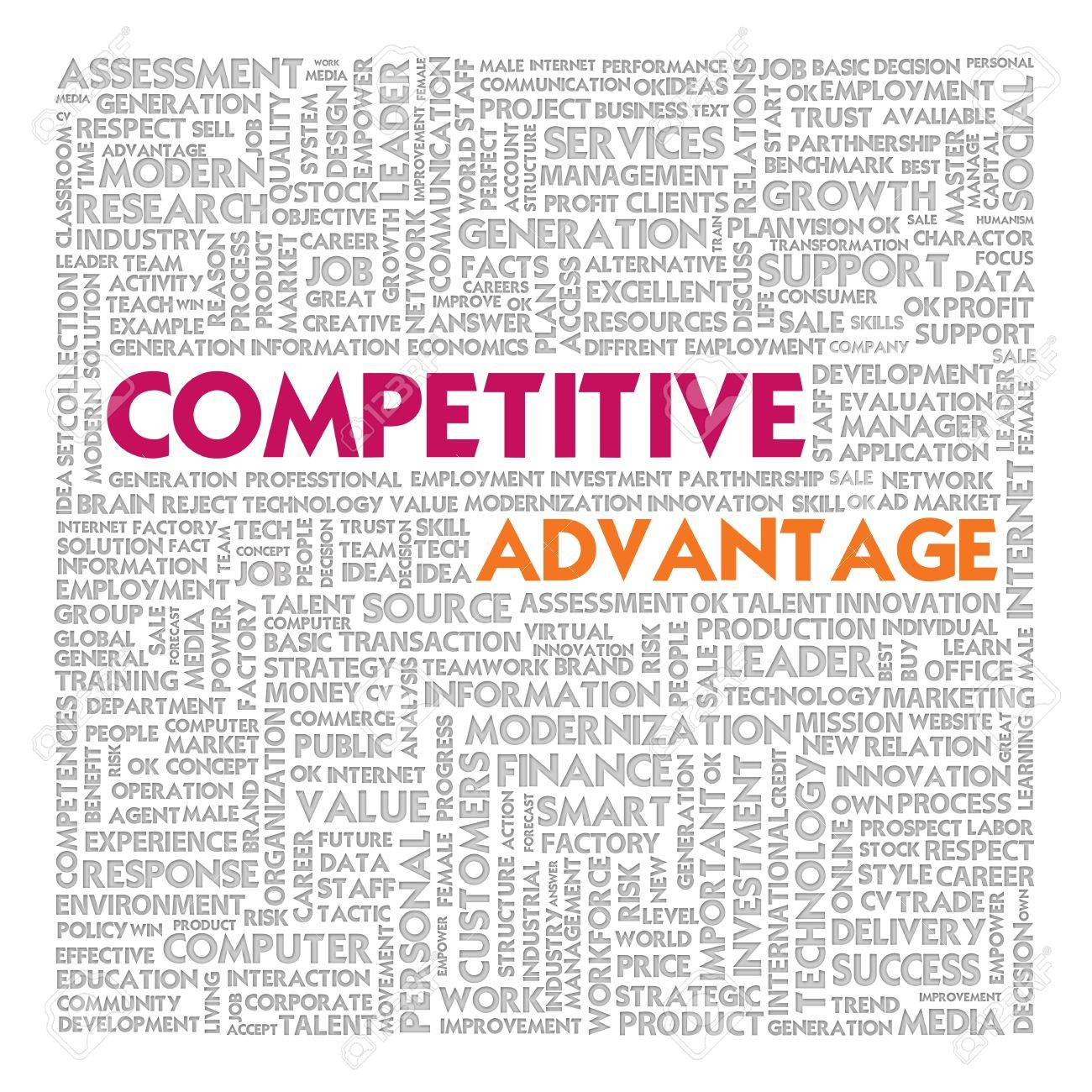 Business word cloud for business concept, competitive advantage Stock Photo - 14107340