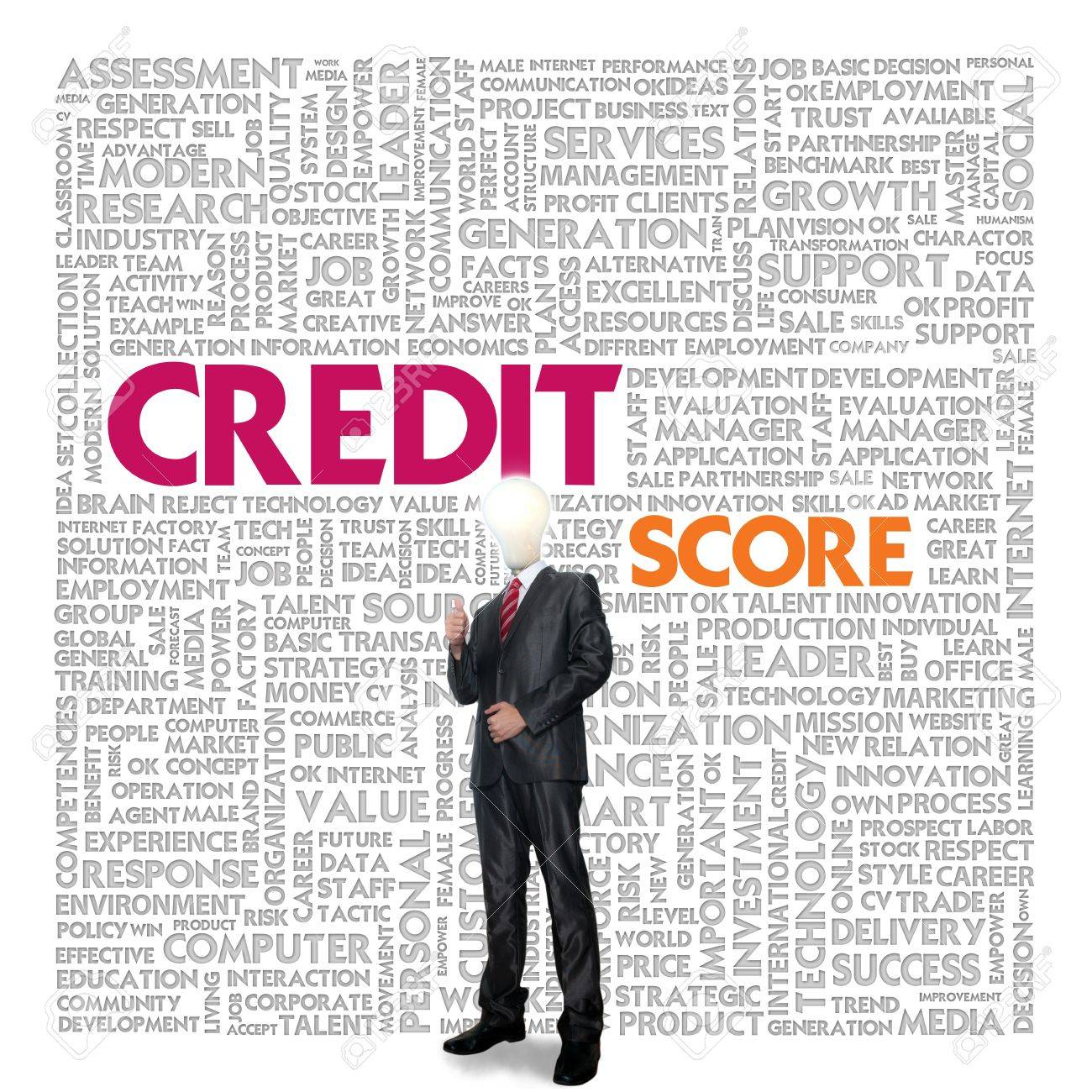 Business word cloud for business concept, Credit Report Stock Photo - 14107380