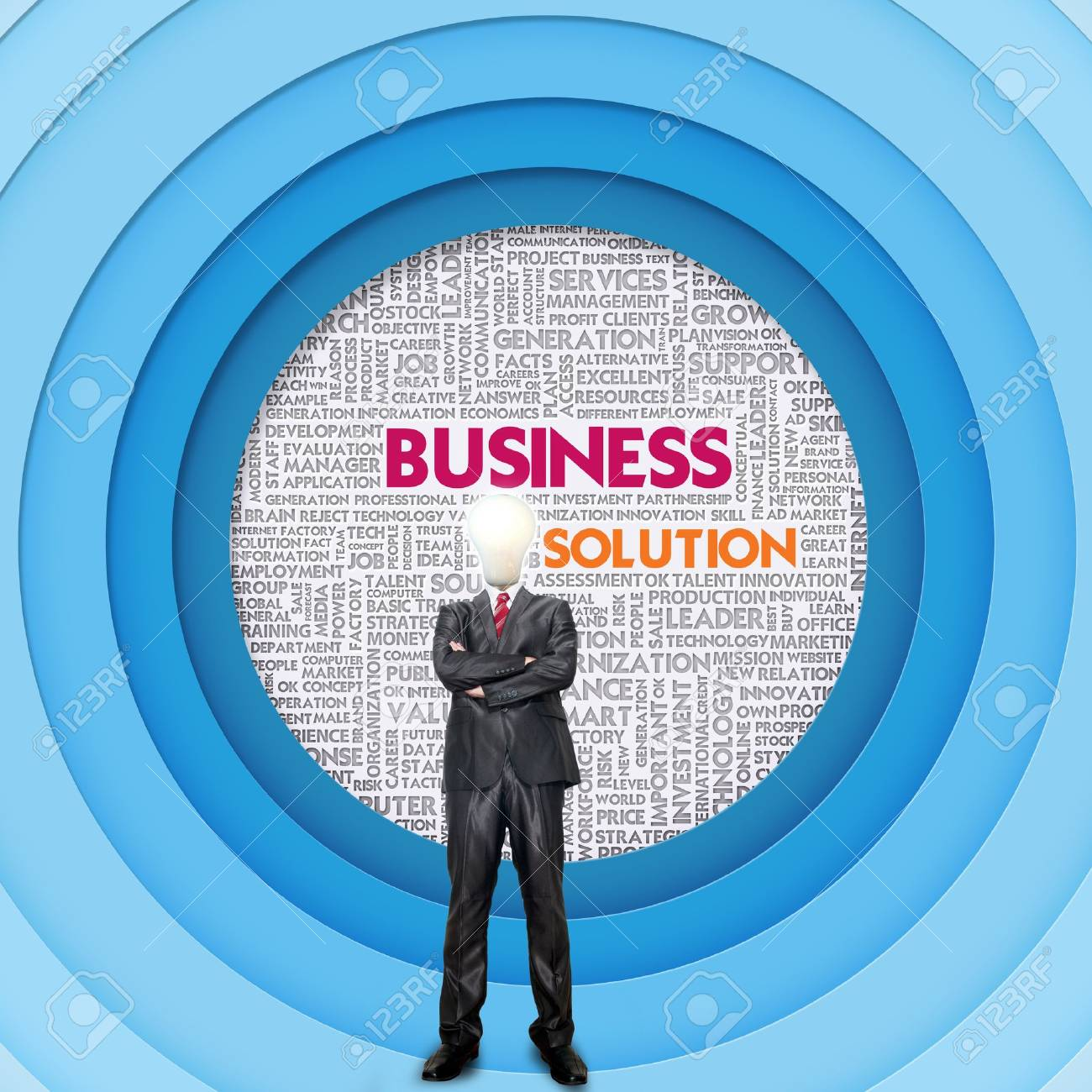 Business word cloud for business and finance concept, Business Innovation Stock Photo - 14645783