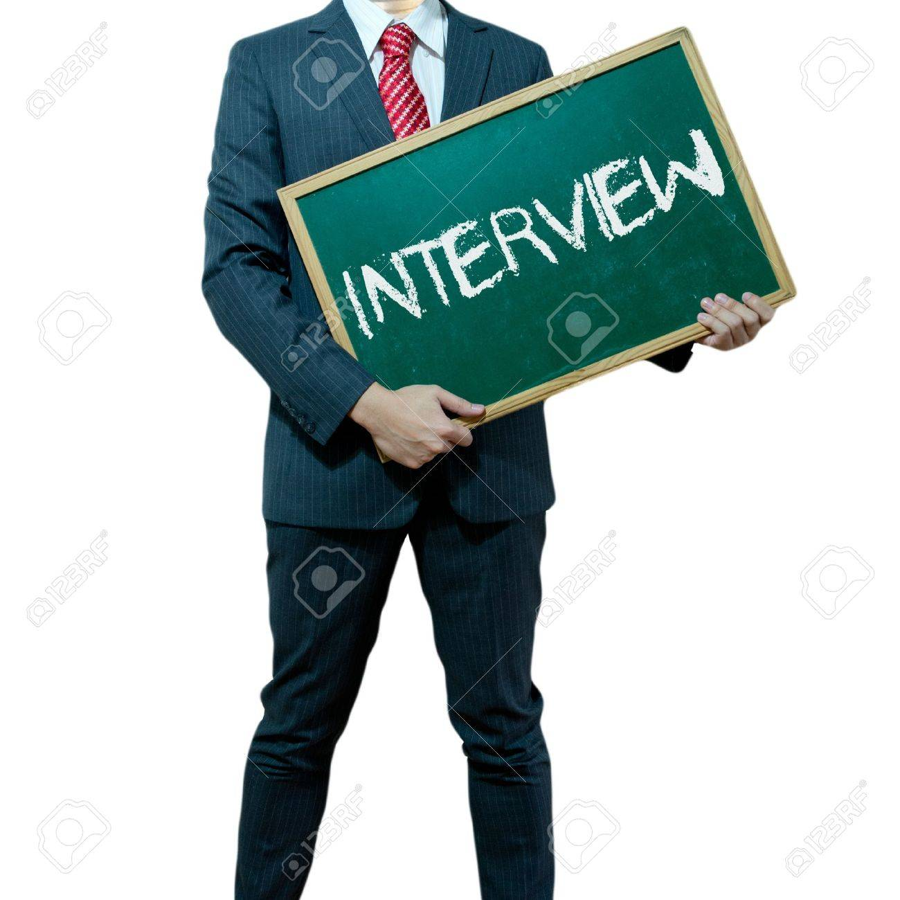 business man holding board on the background business word business man holding board on the background business word interview stock photo 15356436