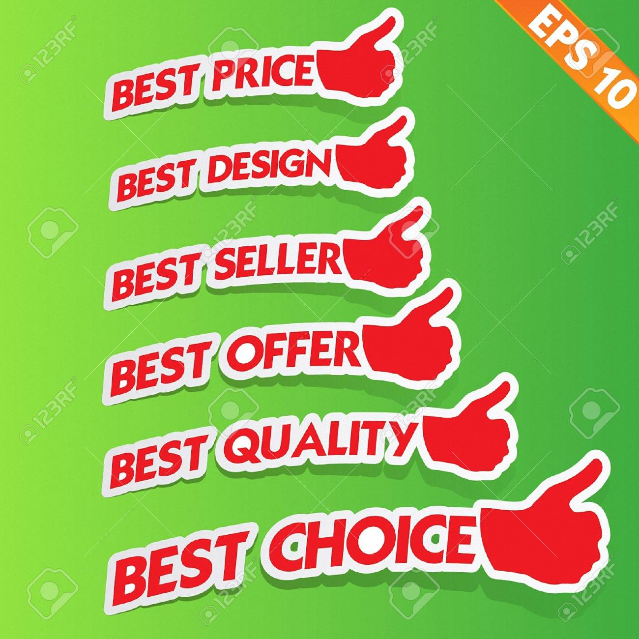 Stitcker Best tag collection  - Vector illustration Stock Vector - 20865748