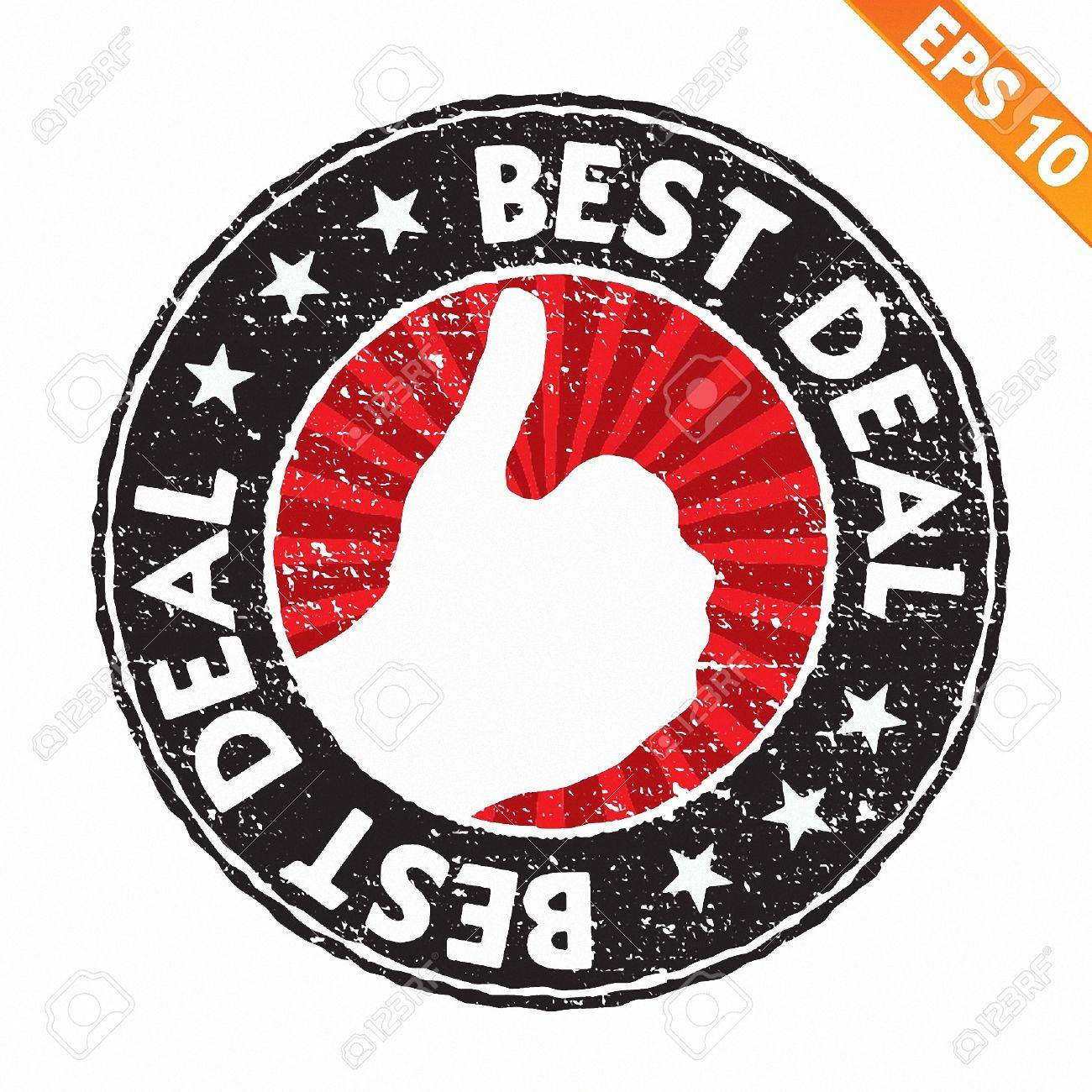 Stamp sticker best deal collection  - Vector illustration Stock Vector - 20847978