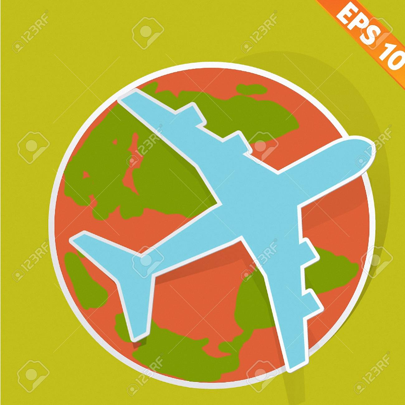 Airplane travel - Vector illustration Stock Vector - 20896059