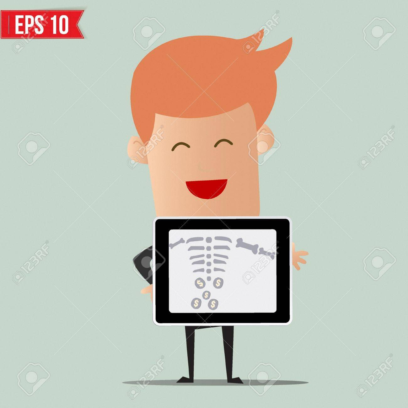 Business man showing scan X-ray report - Vector illustration - EPS10 Stock Vector - 22550028