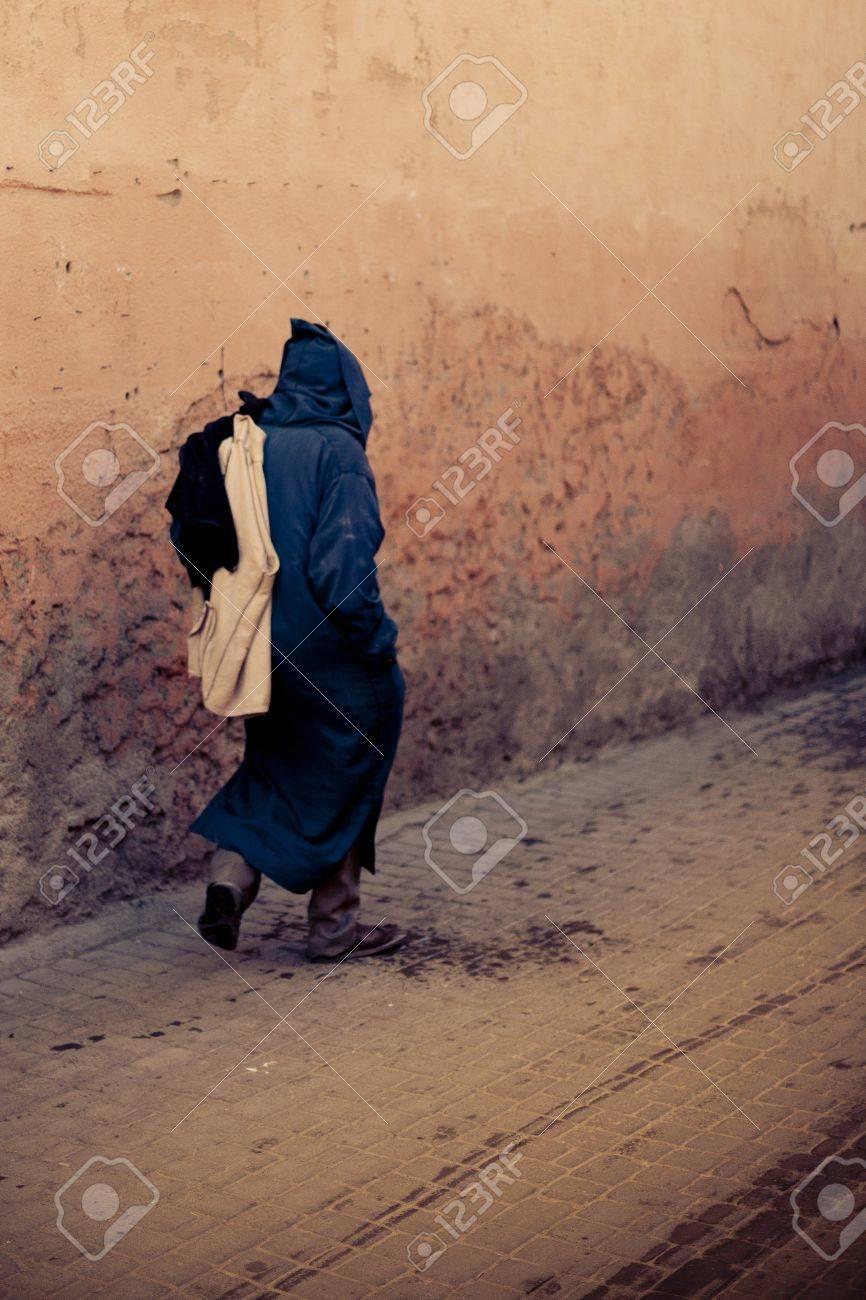 Streets of Marrakesh in Morocco Standard-Bild - 9762778