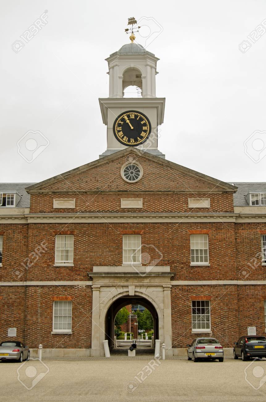 Central Tower Of The Historic Vulcan Building In Portsmouth,.. Stock ...