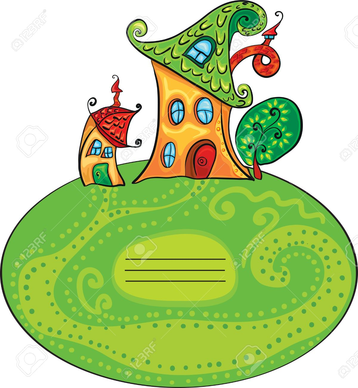 356 Fairytale Cottage Stock Vector Illustration And Royalty Free ...