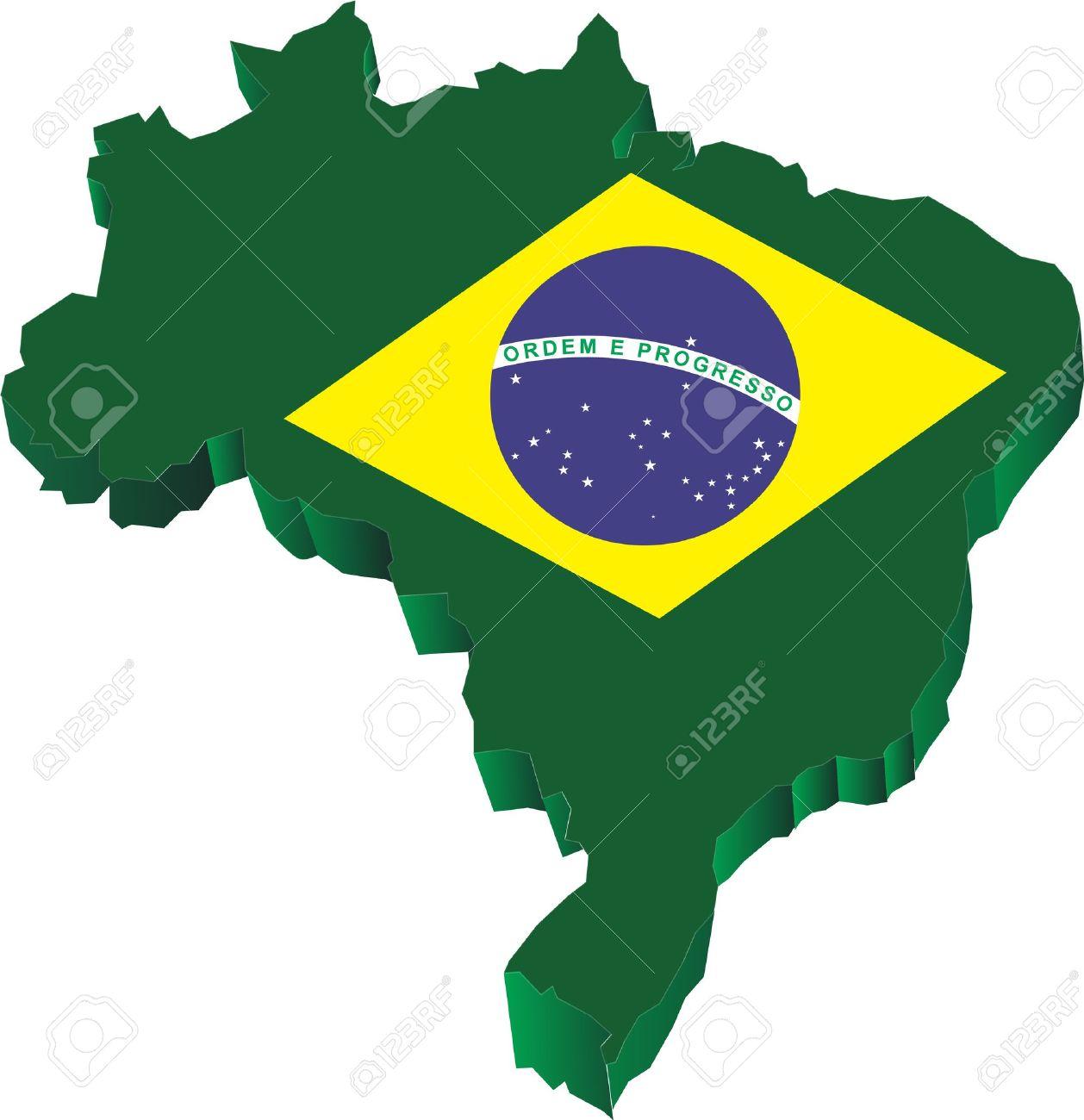 Handmade watercolor brazil flag brasil stock photos freeimages com - Brasil Flag Brazil 3d Map