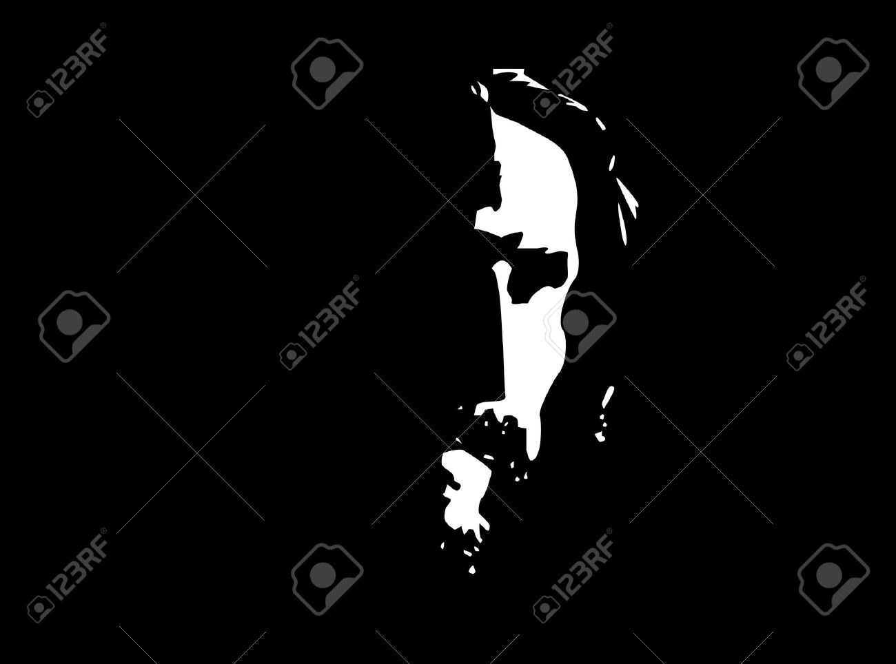 Jesus Profile Stock Vector - 18429235
