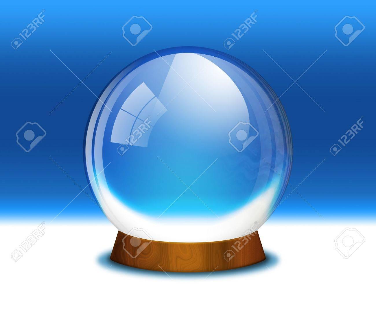 Raster illustration of an empty snow globe Stock Illustration - 11406527