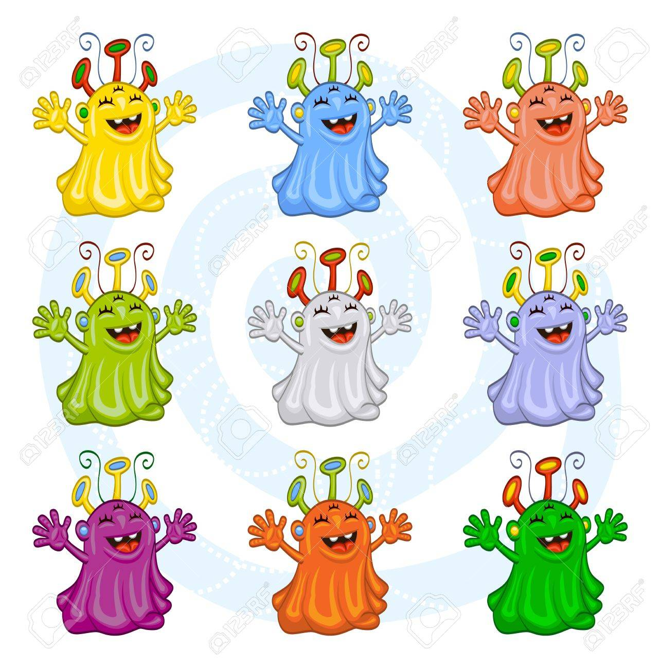 Monsters, aliens for Halloween or other events Stock Vector - 12831930