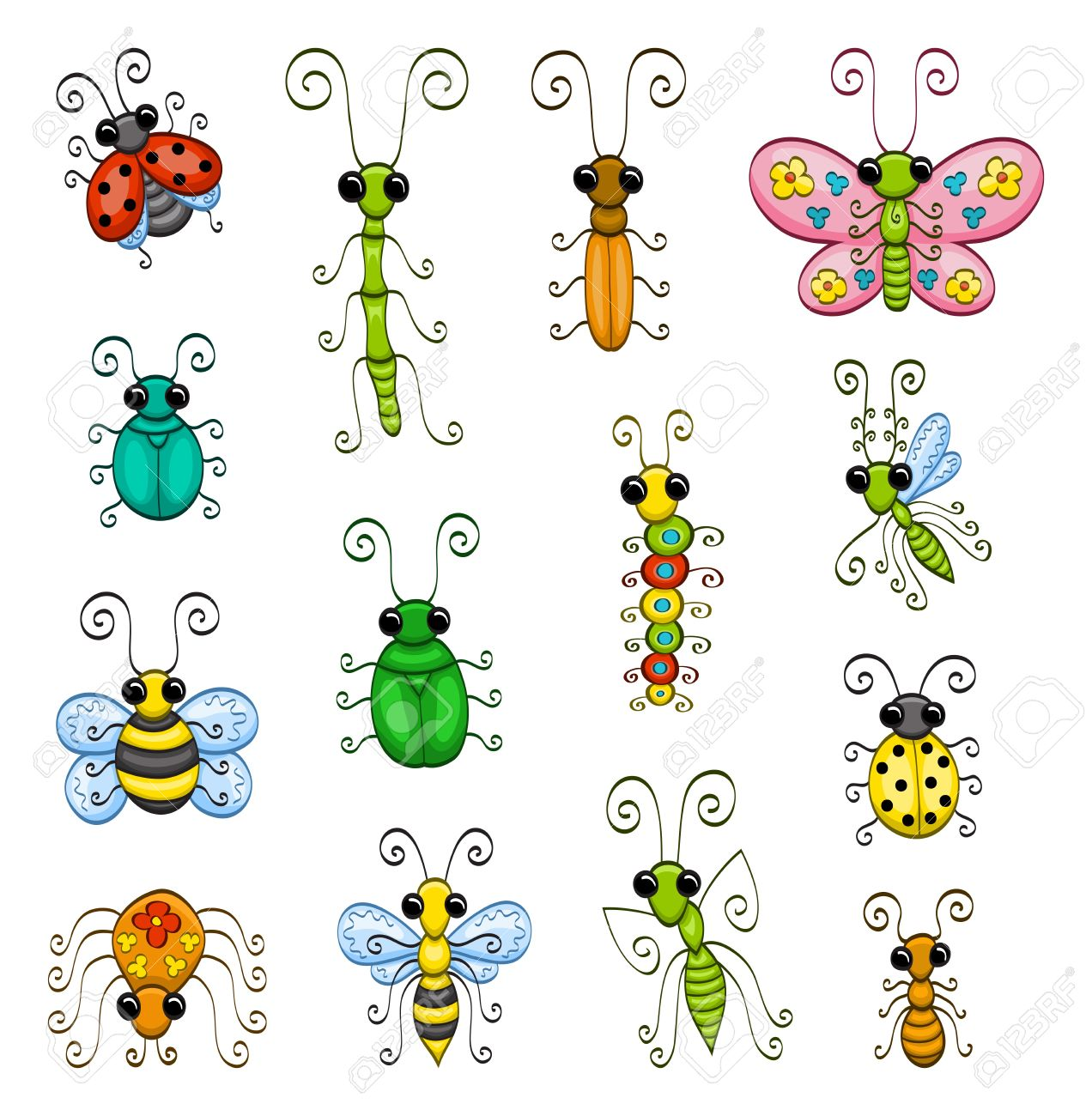 cartoon insects royalty free cliparts vectors and stock