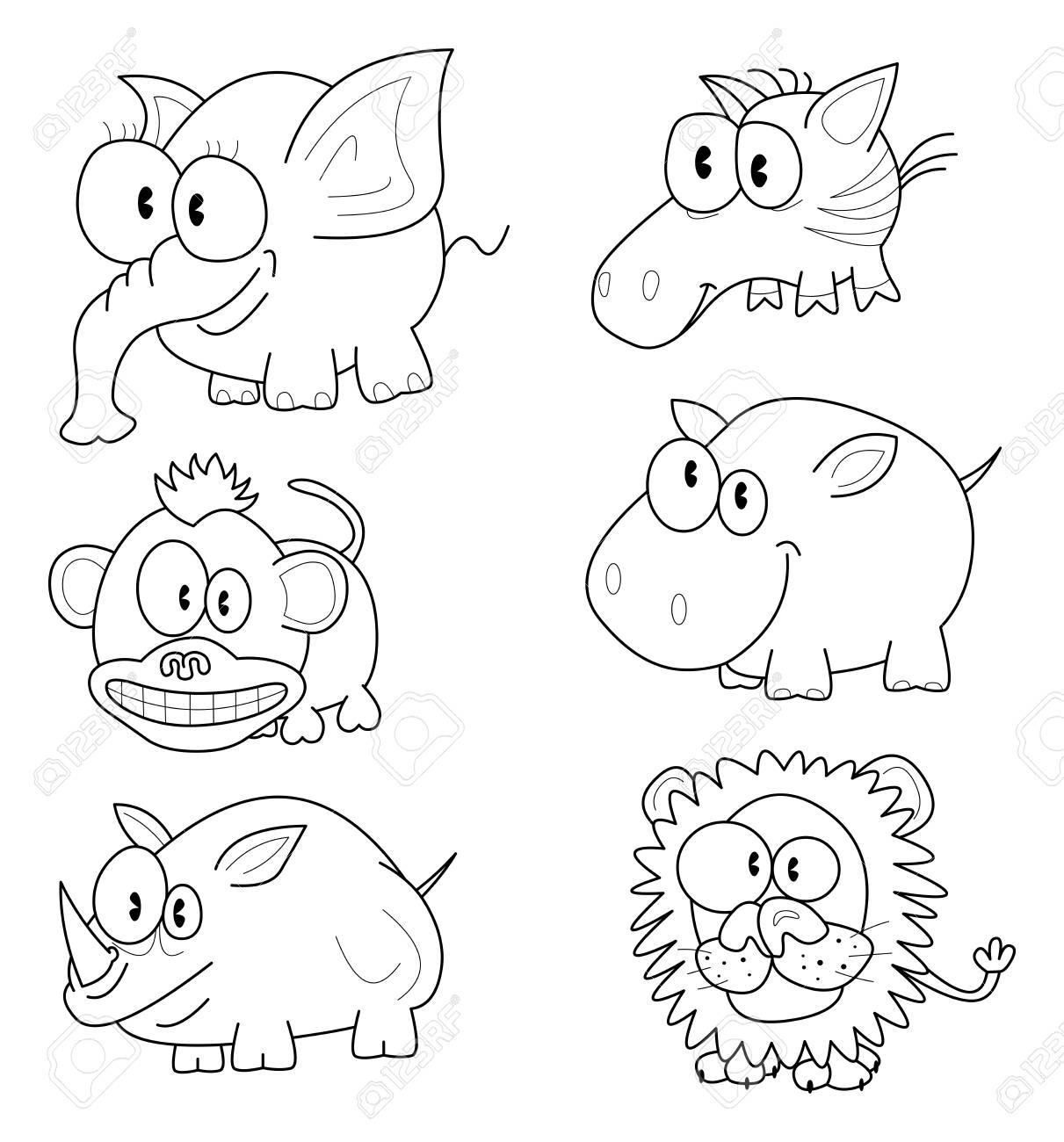 Cartoon animals Stock Vector - 16755293