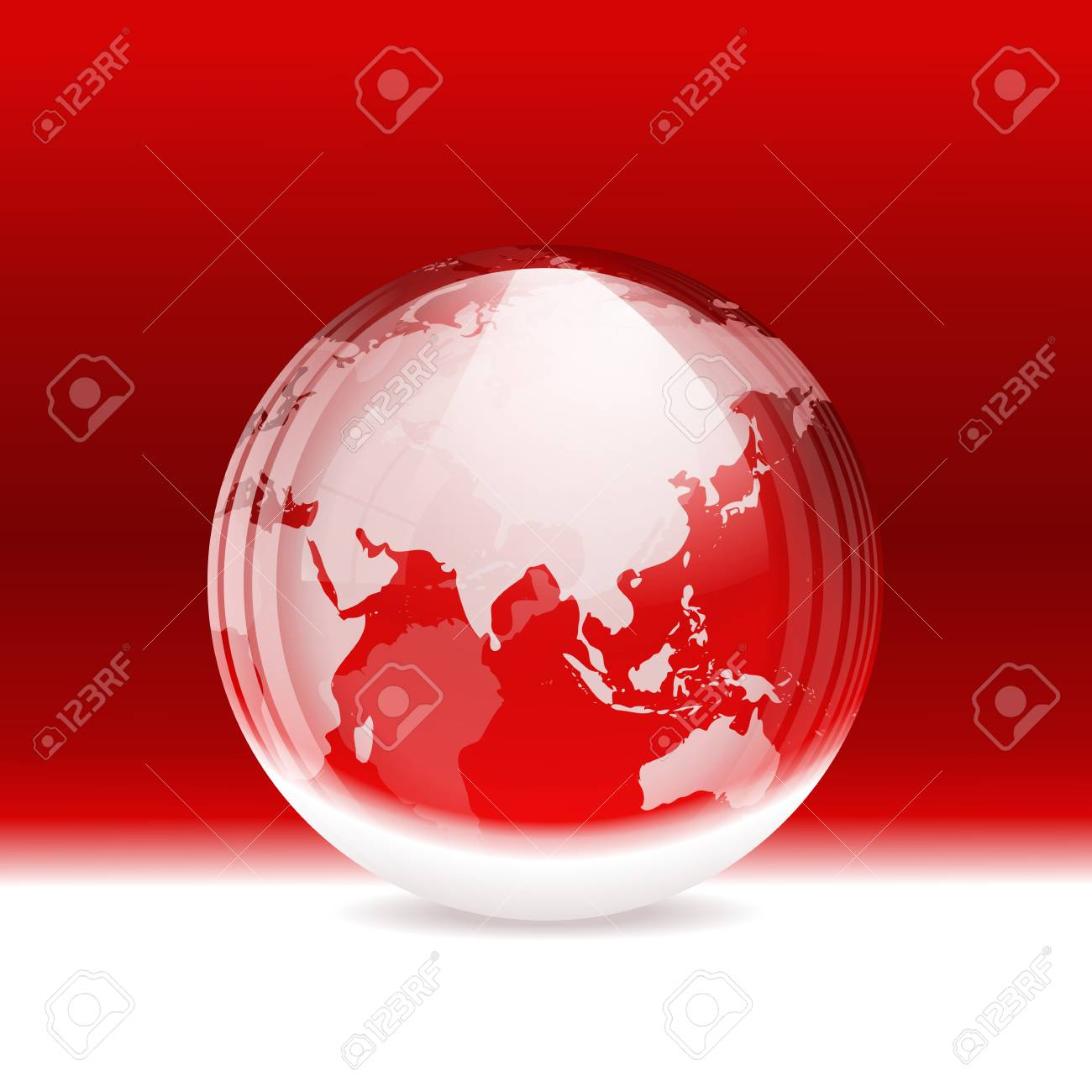 Vector transparent snow globe with map Stock Vector - 20763478