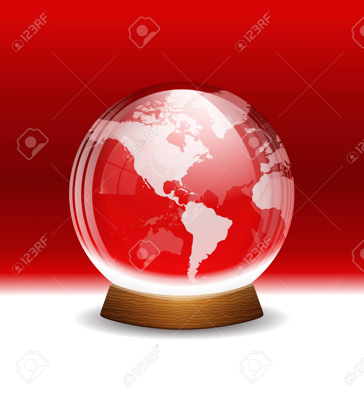 Vector transparent snow globe with map Stock Vector - 21577652