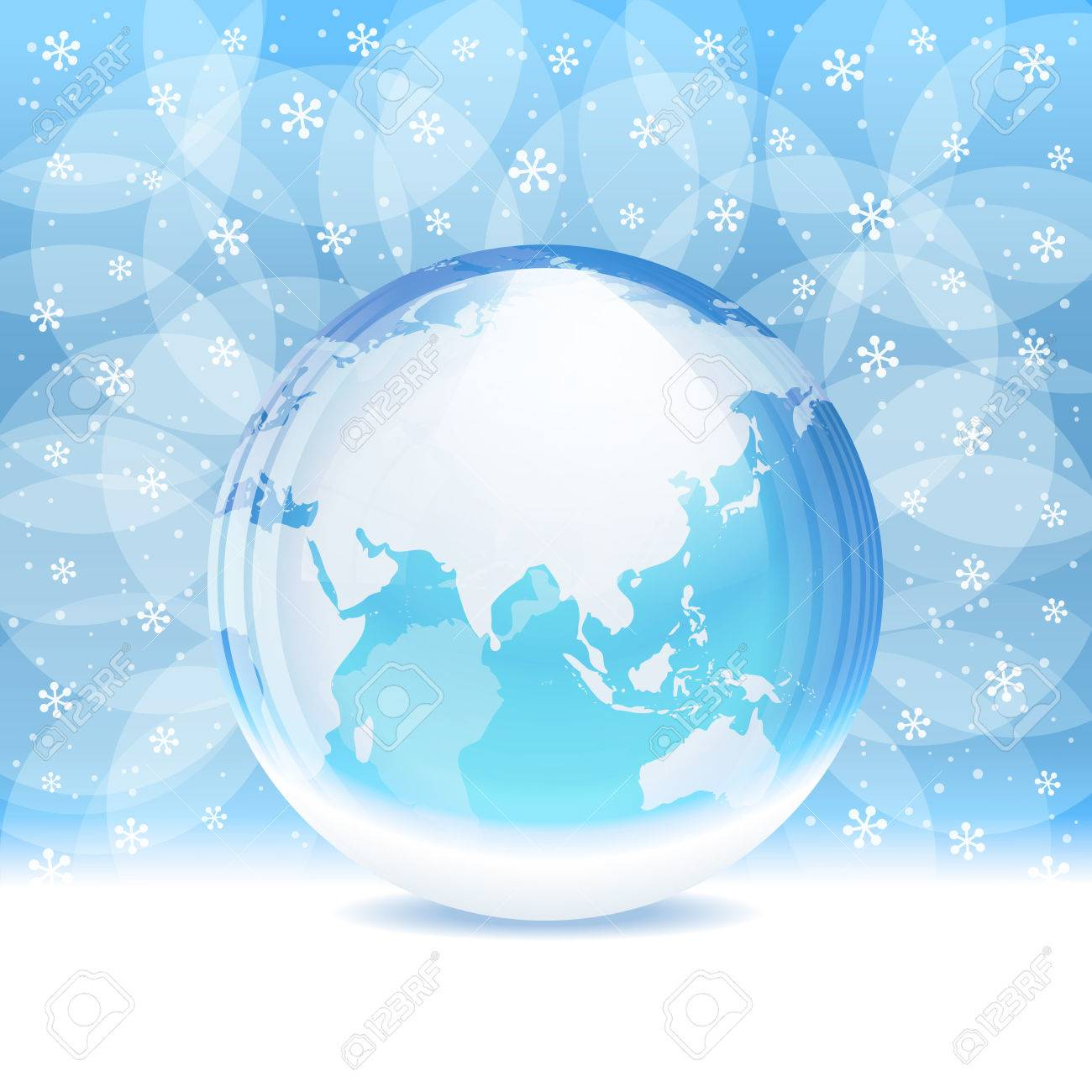 Vector transparent snow globe with map royalty free cliparts vector vector transparent snow globe with map gumiabroncs Gallery