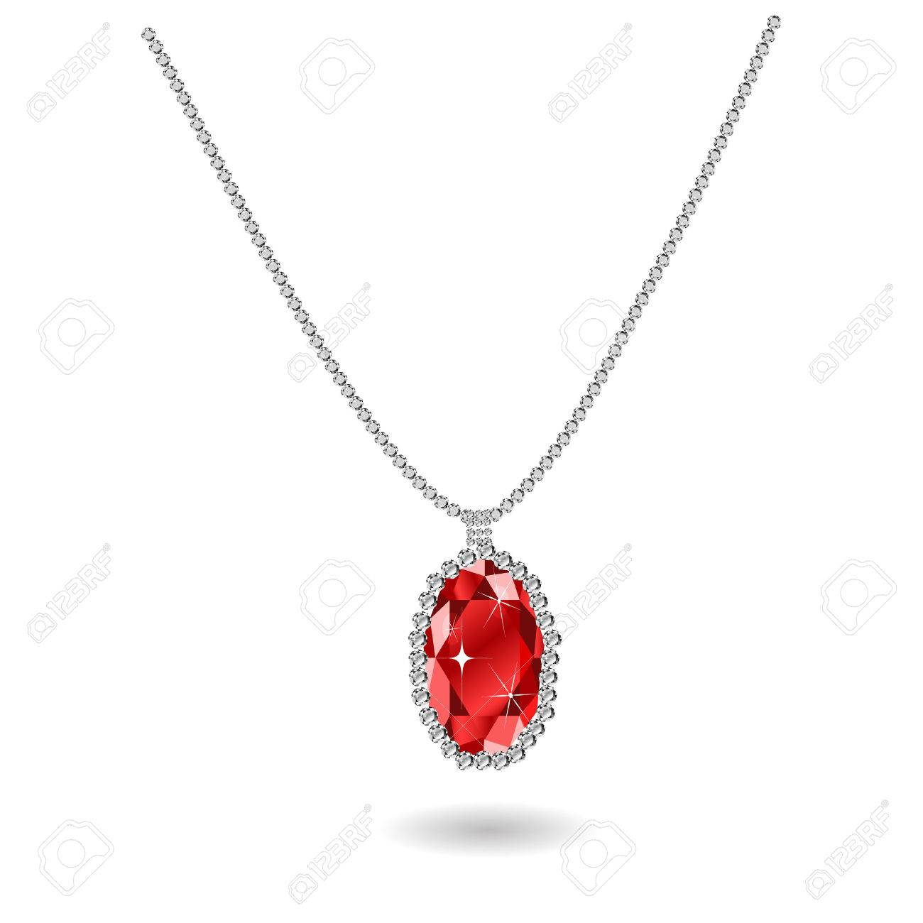 gift on july ruby red jewellery necklaces birthstone sterling card simply a necklace silver zoom