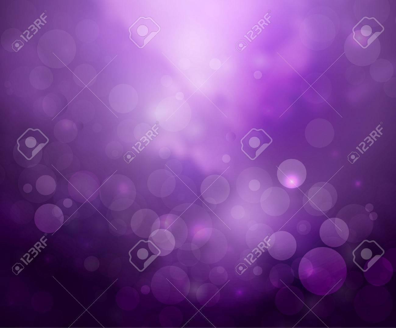 Purple lights background fantasy bokeh on white - 53771941