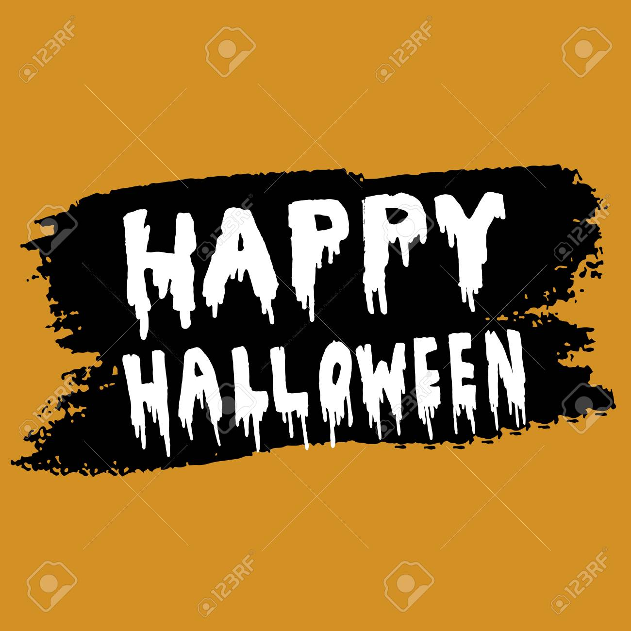 Happy Halloween Calligraphy Halloween Banner Halloween Lettering Royalty Free Cliparts Vectors And Stock Illustration Image 63625318