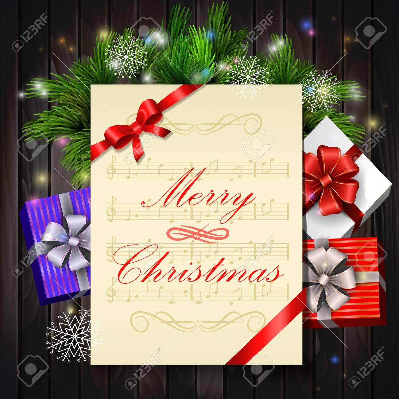 Elektronische Weihnachtskarten Mit Musik.Stock Photo