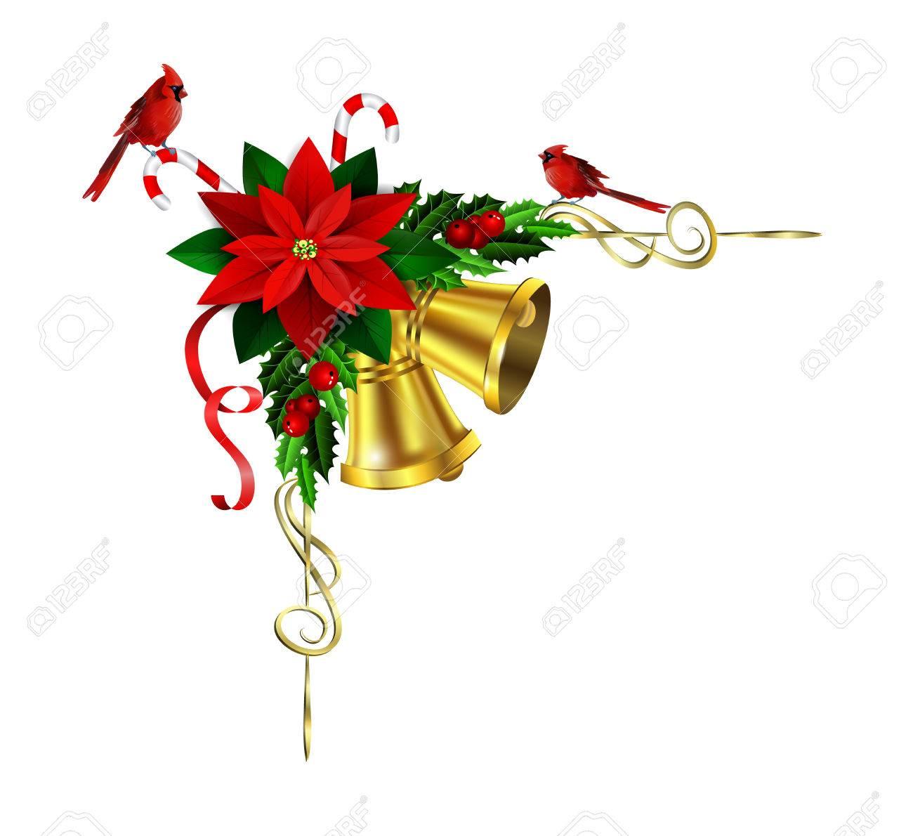 christmas corner decoration with evergreen treess holly and pinecone rh 123rf com Christmas around the Corner Clip Art christmas holly corner clip art