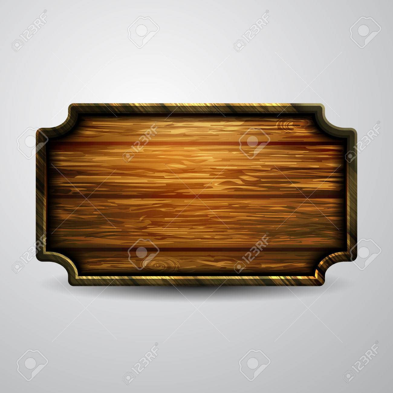 Vector realistic illustration of wooden signboard - 71759488