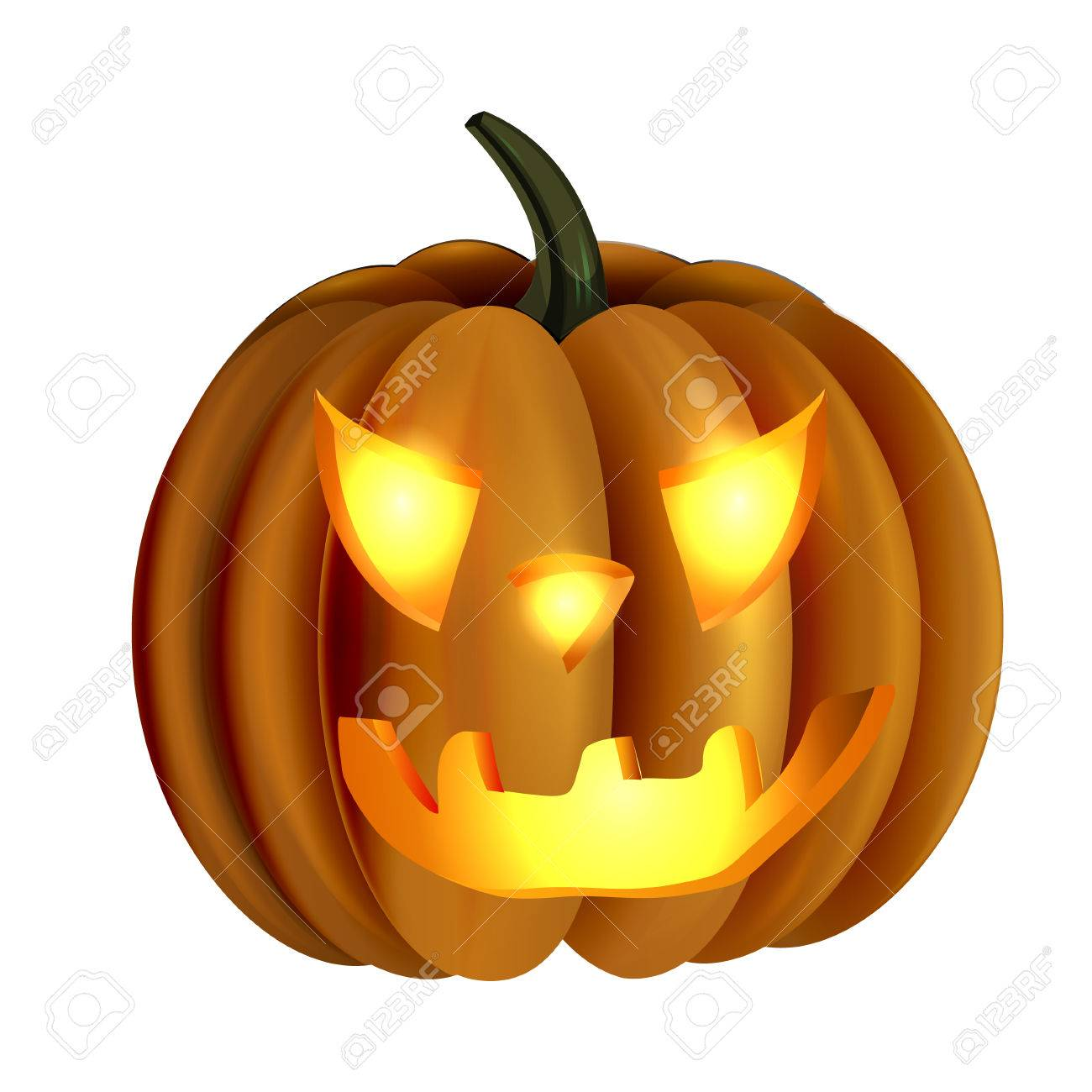 怖いジャック O ランタンのハロウィンかぼちゃのイラスト素材ベクタ