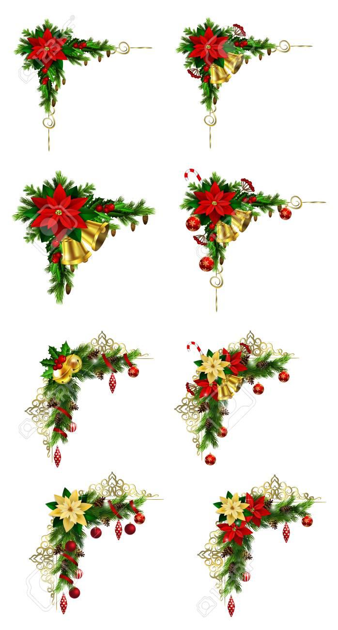 クリスマス枠デザインのセットですのイラスト素材ベクタ Image