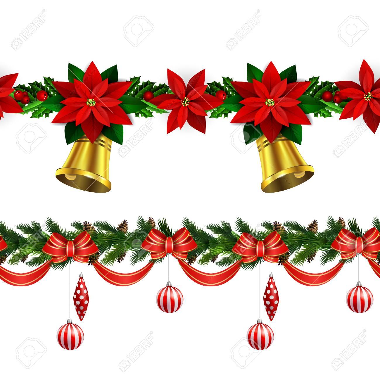 Christmas Border Decoration Design Stock Vector 91866796