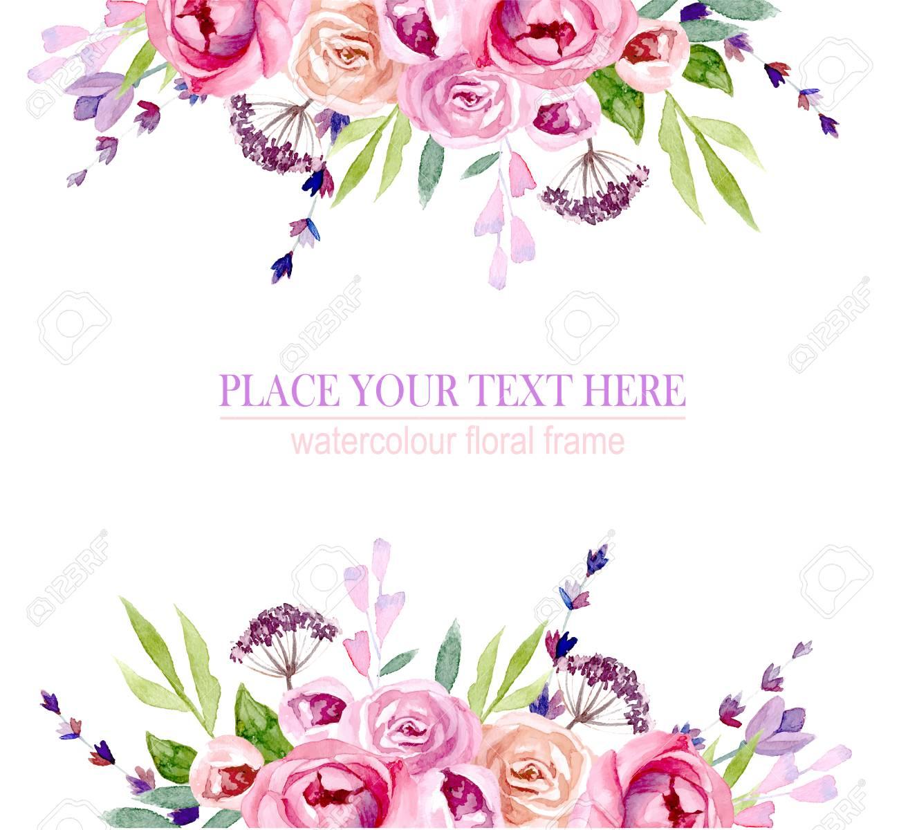 wreath of flowers in watercolor - 100788335