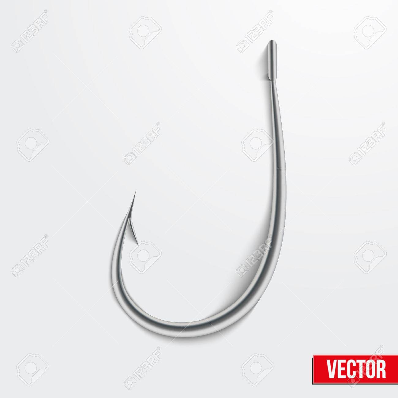 Realistic fishing hook vector illustration. Bright symbols. Editable and isolated. Stock Vector - 22765536