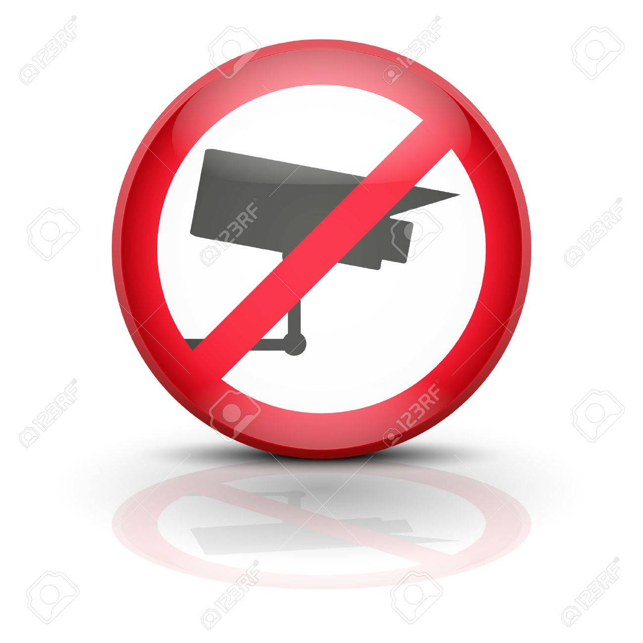 Surveillance Cameras. Sign ban wiretapping, surveillance and espionage. No supervision, no prosecution, no spyware. Vector illustration, editable and isolated. Stock Vector - 23463829