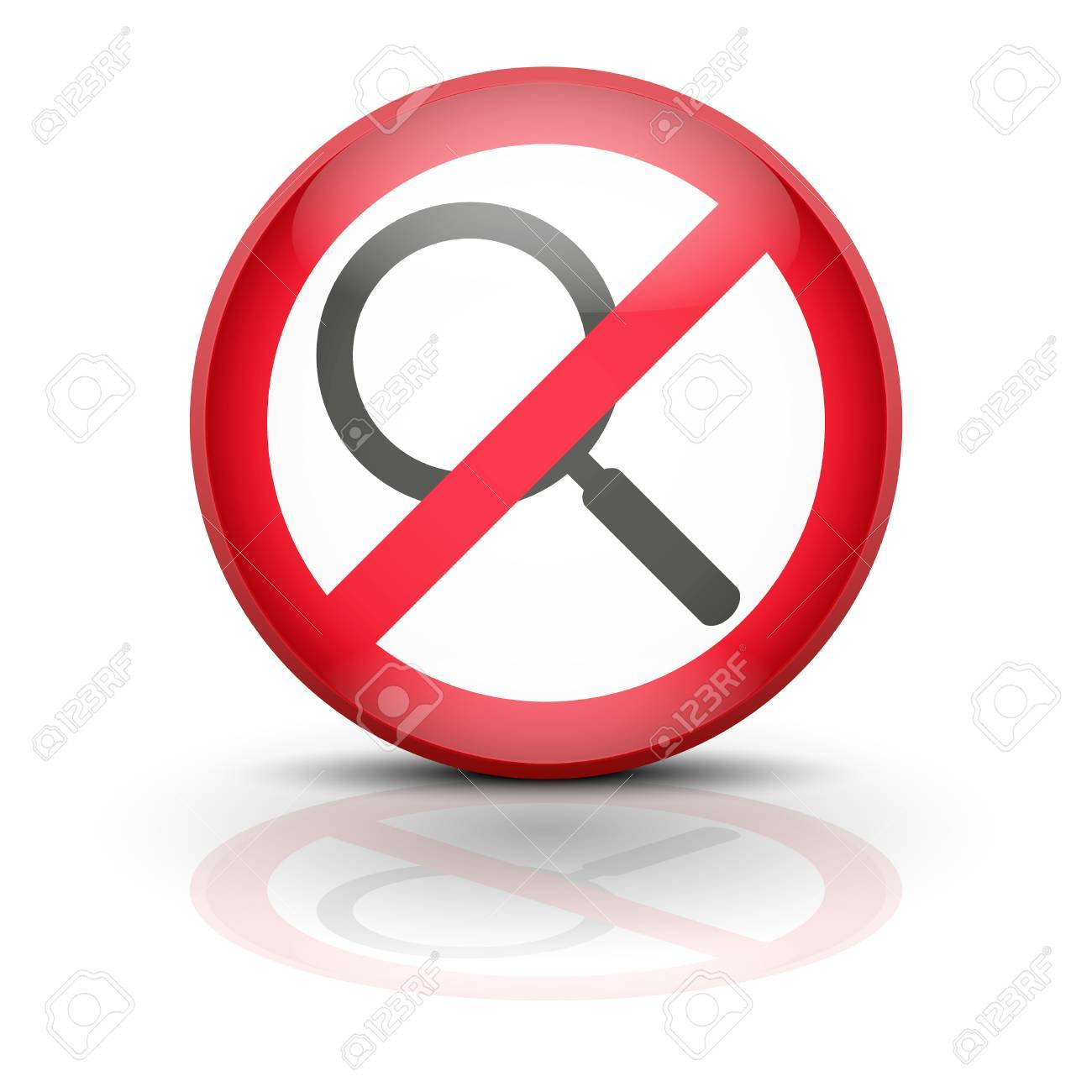 Anti spyware icon symbol illustration. Sign ban wiretapping, surveillance and espionage. Prohibited surveillance. Stock Photo - 25474842