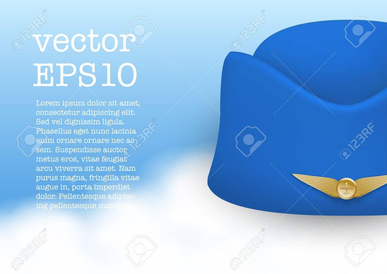4737887919b4f Stewardess hat of air hostess uniform Stock Vector - 27249721