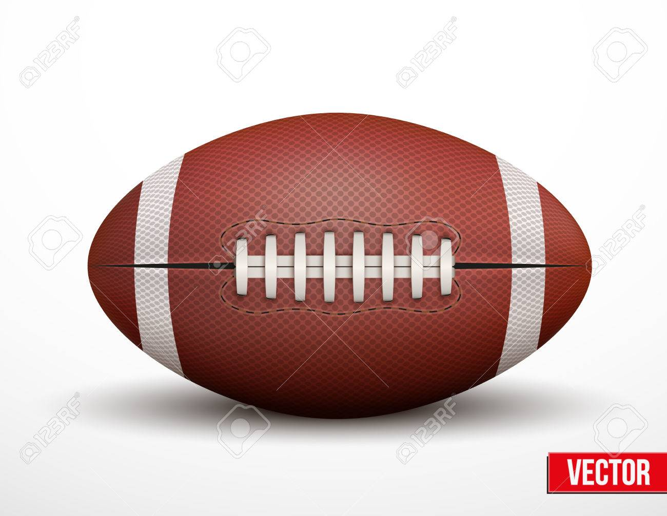 american football ball isolated on a white background realistic