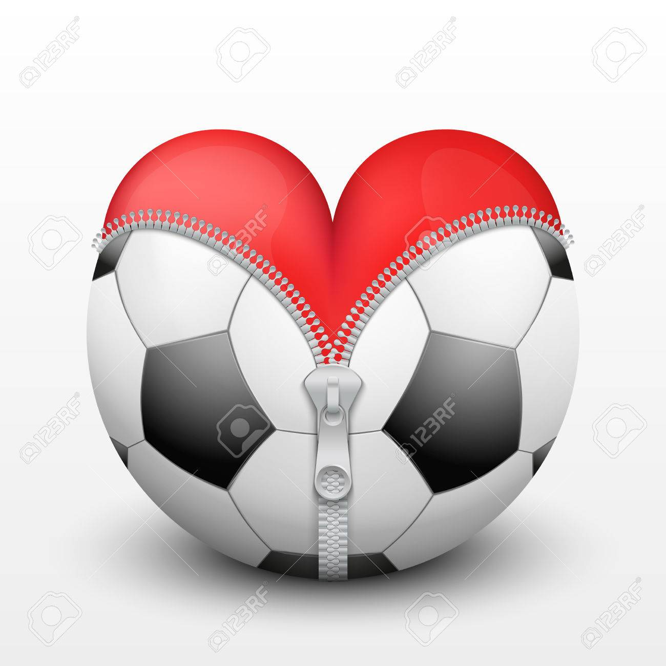 Red heart inside soccer and football symbol of love for the red heart inside soccer and football symbol of love for the sport vector illustration buycottarizona