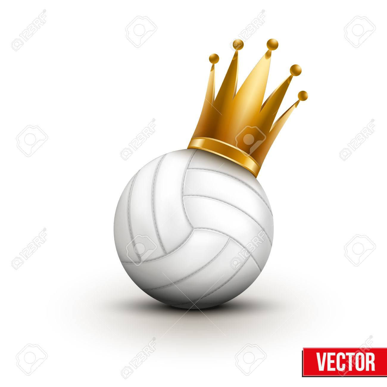 Volleyball Ball With Royal Crown. Princess Of Sport. Traditional ...