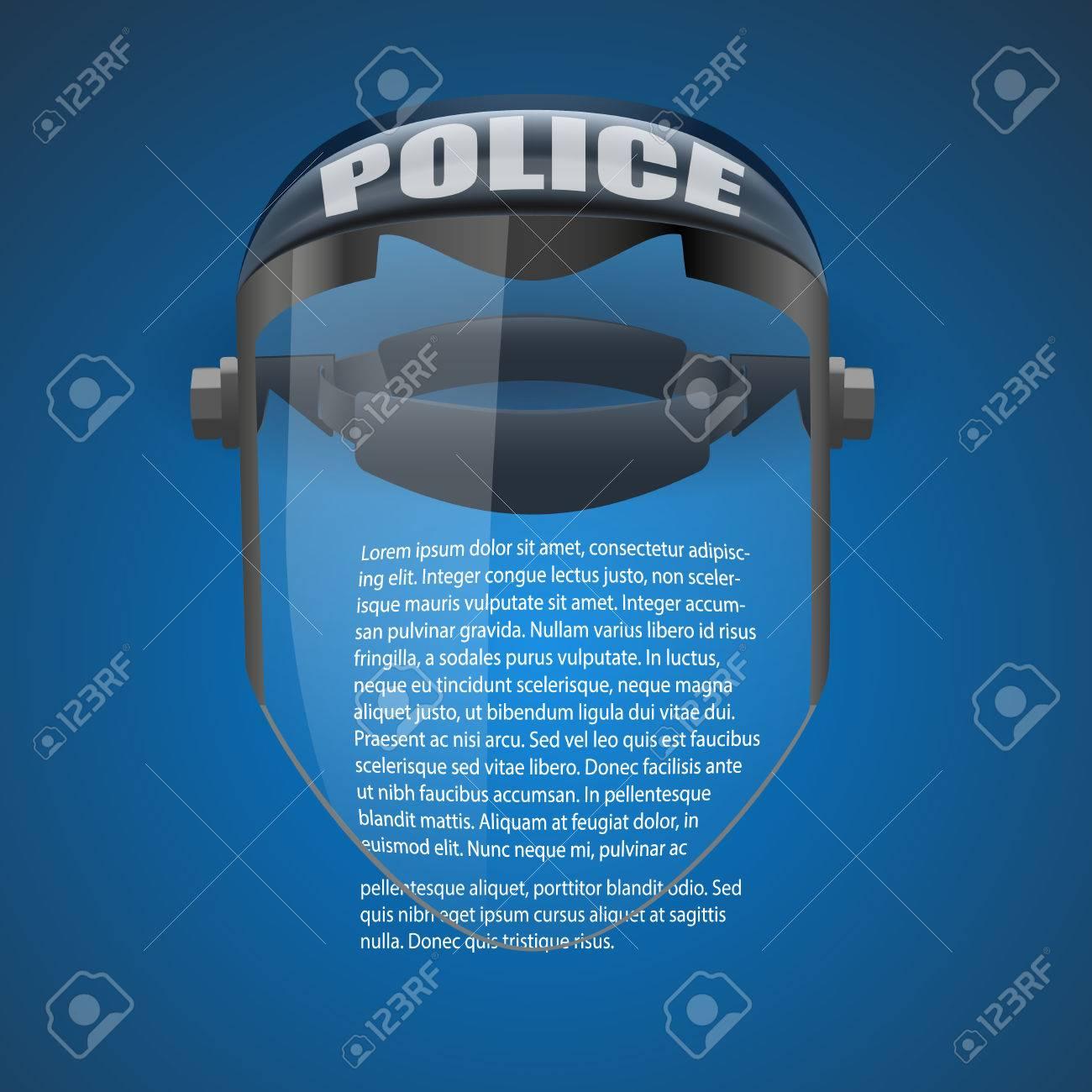 4235c7bed71 Banque d images - Contexte de la police à protéger masque Illustration  Vecteur Lunettes symbole de verre de défense isolé sur fond blanc