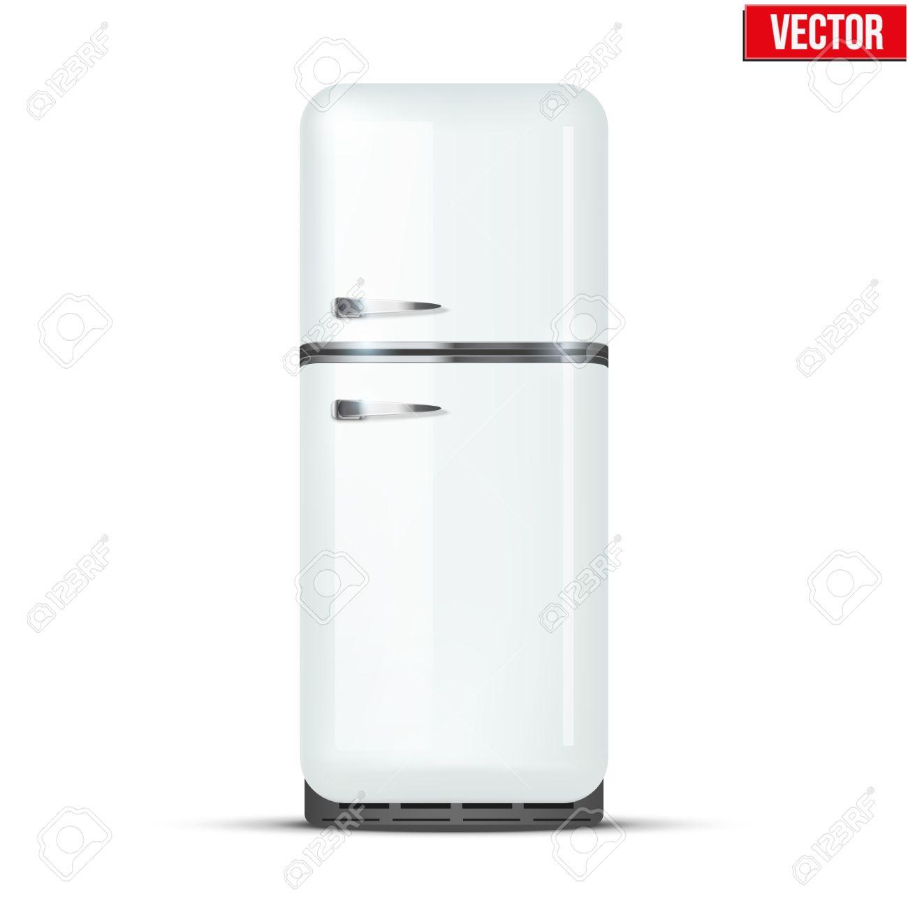 Retro Kühlschrank Kühlschrank In Der Farbe Weiß Haushaltsgeräte ...