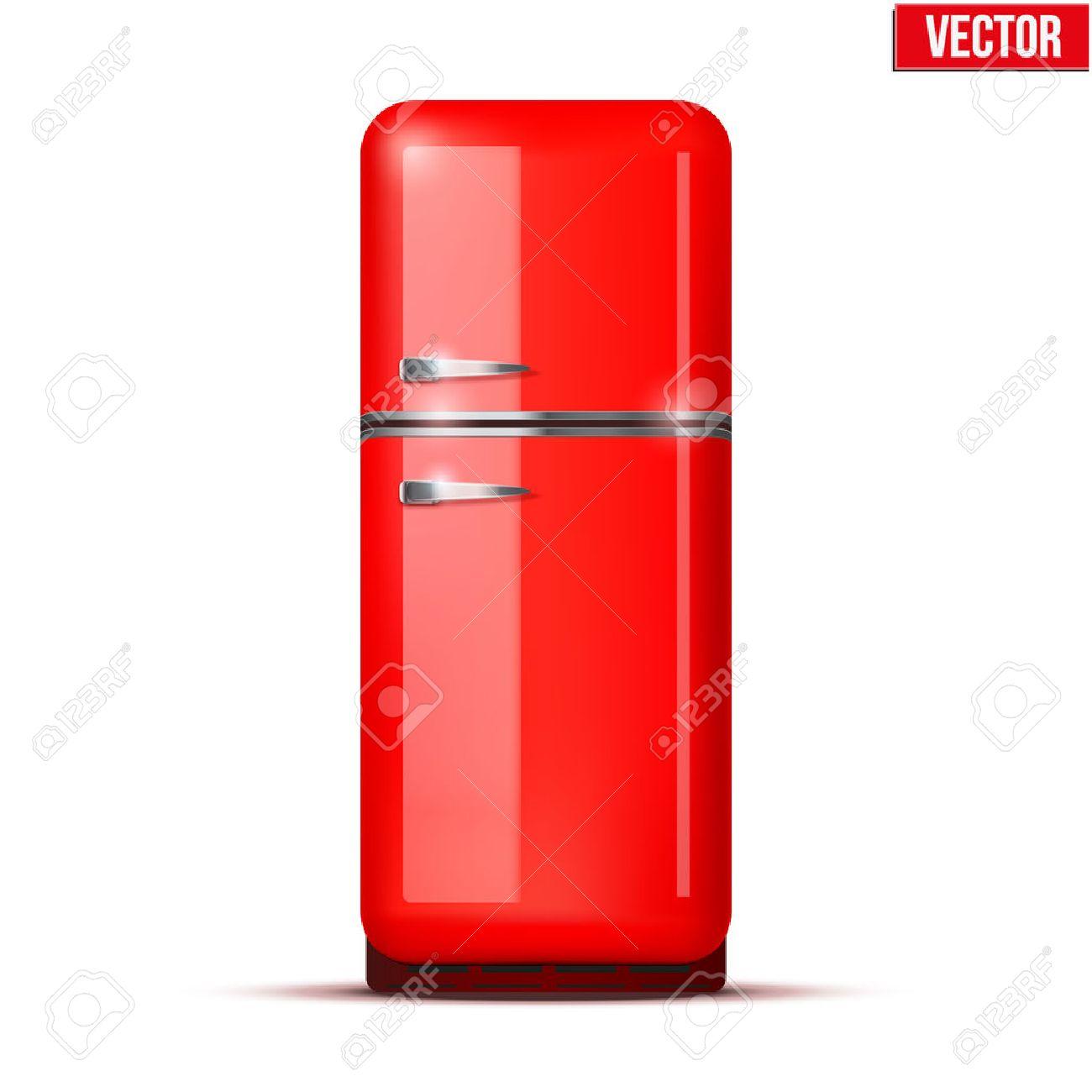 Retro Kühlschrank Kühlschrank Im Retro-Farben Rot Haushaltsgeräte ...