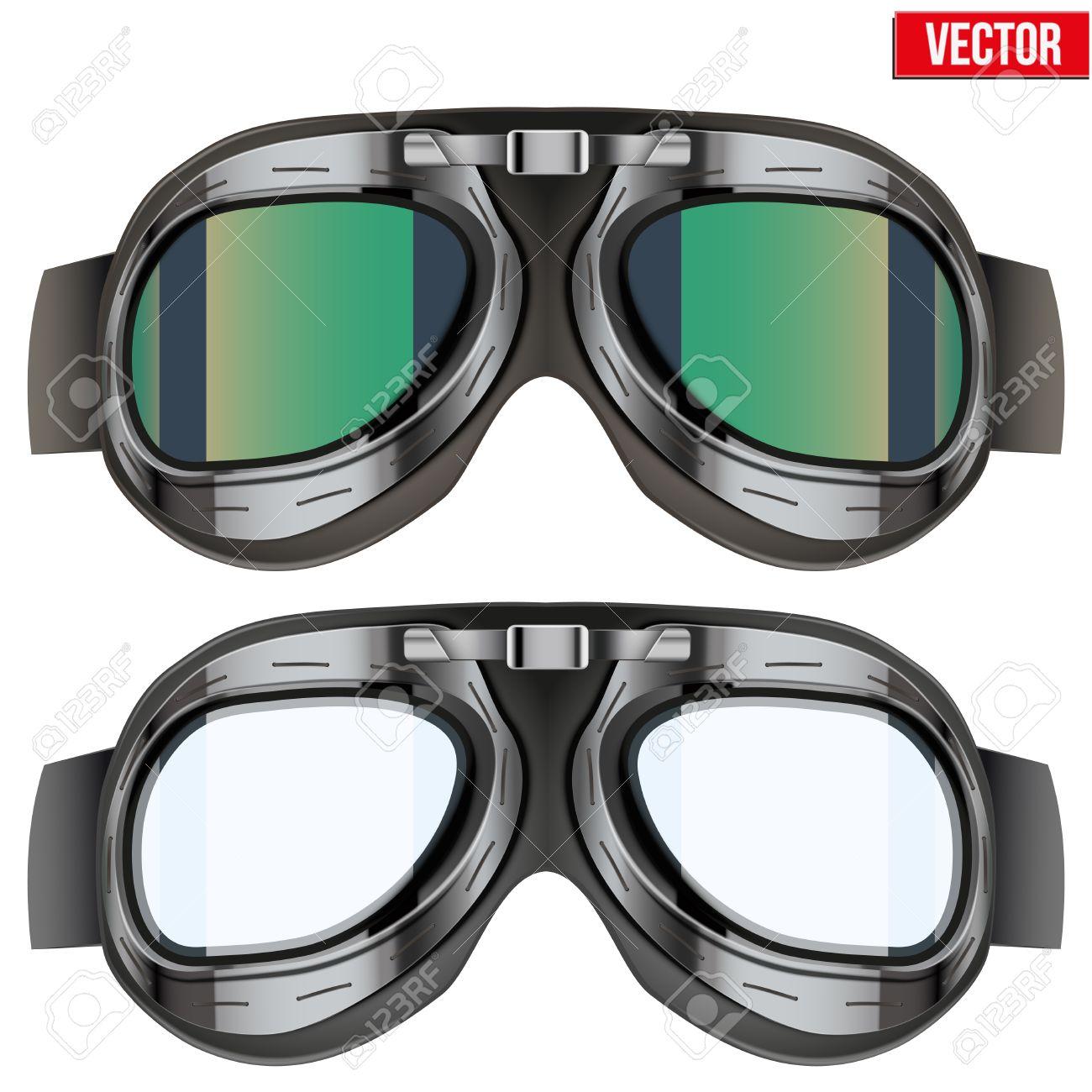 b868a3ec06 Foto de archivo - Gafas retro gafas de piloto aviador. Objeto de la  vendimia. Ilustración del vector. Aislados en blanco