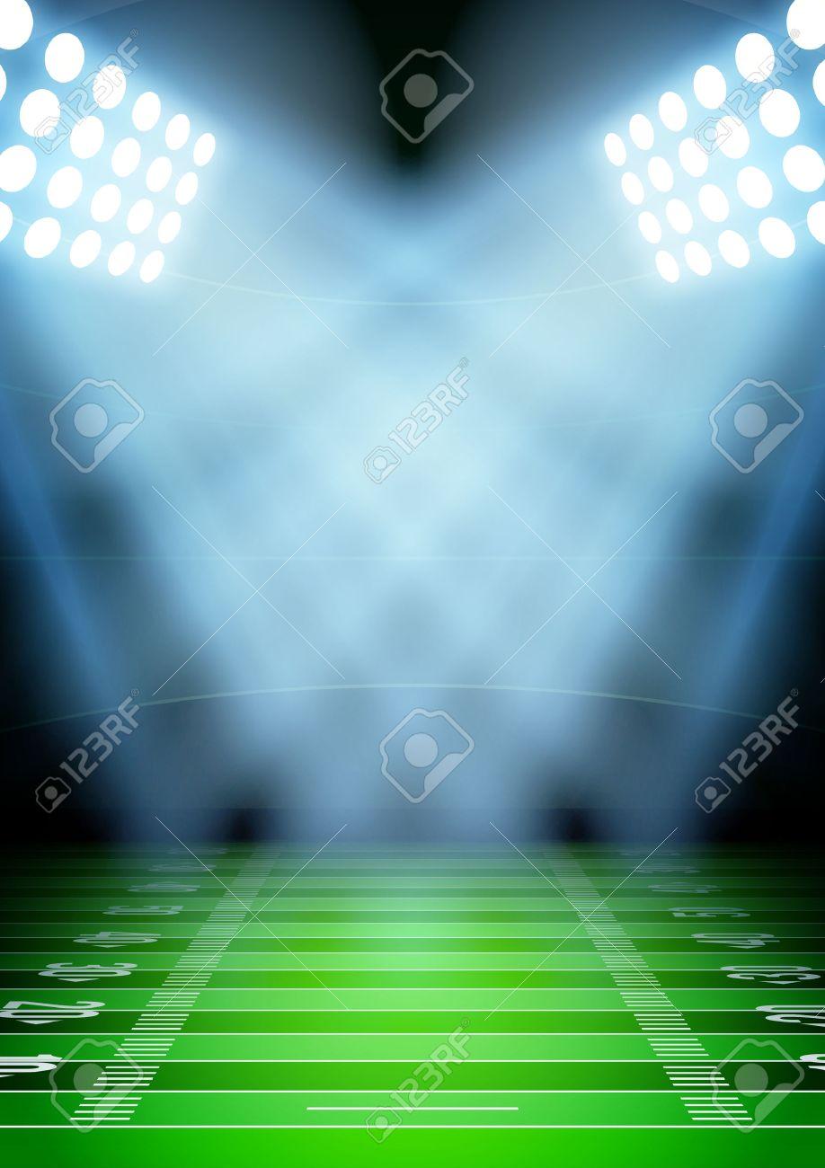 Vertical Background for posters night football stadium in the spotlight. Editable Vector Illustration. - 32362697