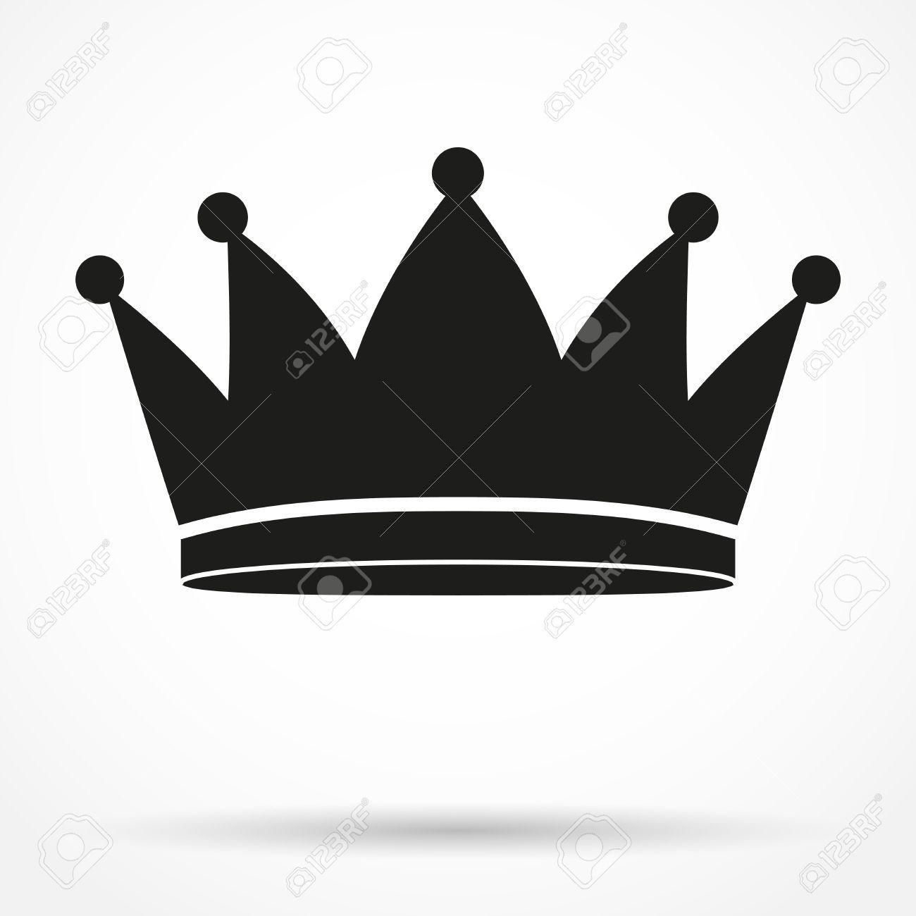 silhouette simple symbol of classic royal king crown vector rh 123rf com king crown vector art king crown vector black