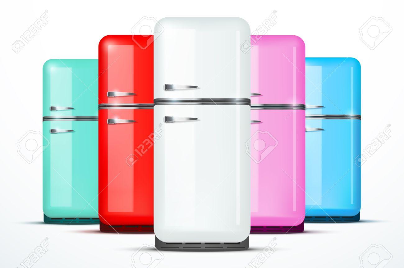 Retro Kühlschrank Rot Günstig : Set von retro kühlschrank kühlschrank in weißer farbe