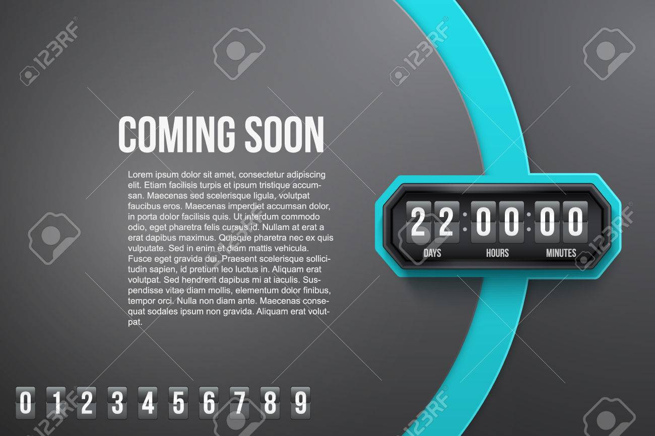 Creative Background Coming Soon And Countdown Timer With Digit