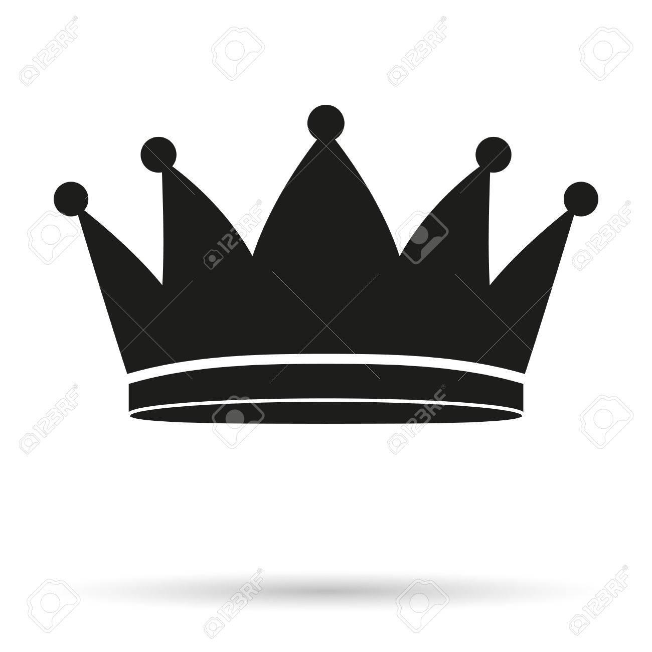 Silueta Simple Símbolo De La Clásica Rey Corona Real Ilustración Y