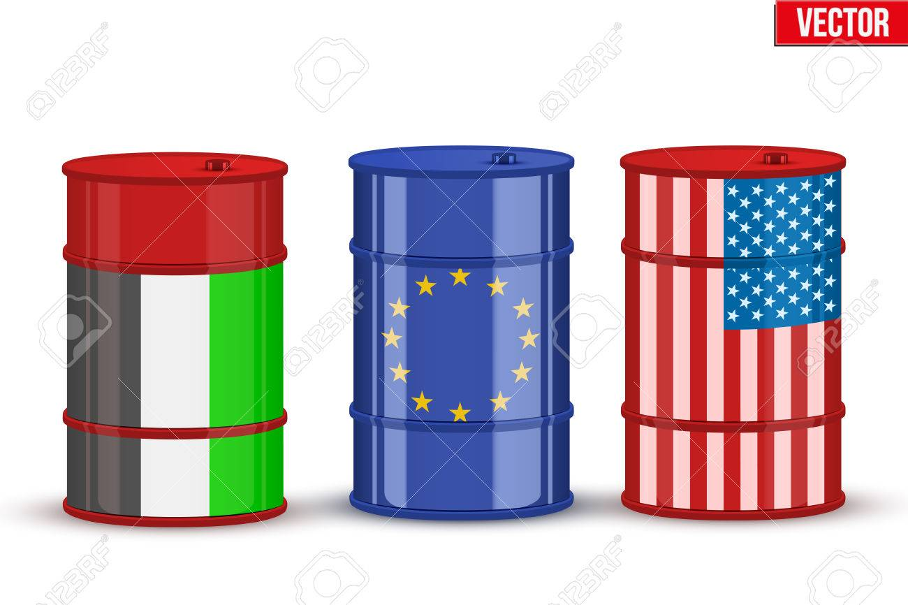 Symbols of benchmark trading oil brent wti and dubai crude symbols of benchmark trading oil brent wti and dubai crude industry vector illustration isolated biocorpaavc Gallery