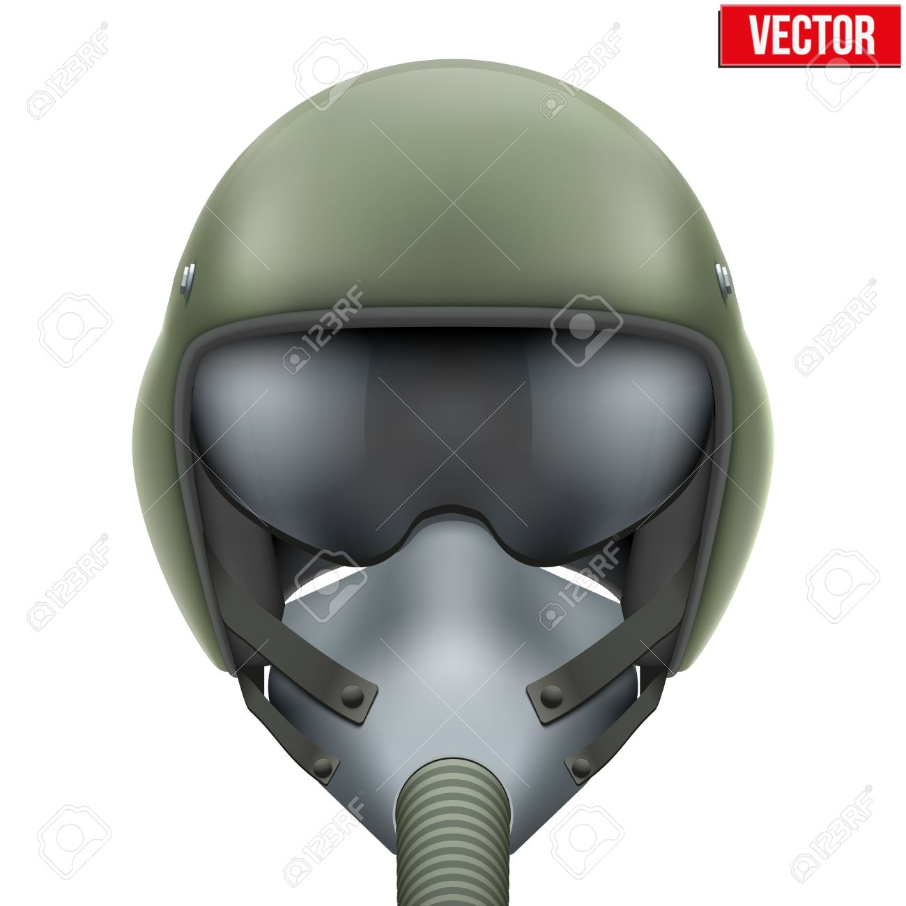ee54d77aad Military flight fighter pilot helmet of Air Force with oxygen mask.  illustration isolated on white